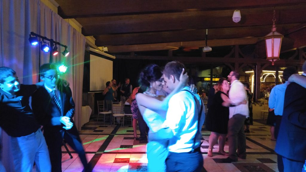 Bride and Groom sharing a dance at their Wedding DJ Services provided by Milwaukee Underground Productions Wedding DJ Services