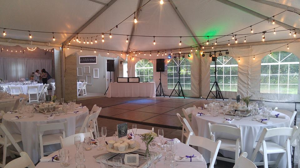 Outdoor wedding reception DJ Servies by Milwaukee Underground Productions The Knot's Best of Weddings 2019 Award Winner