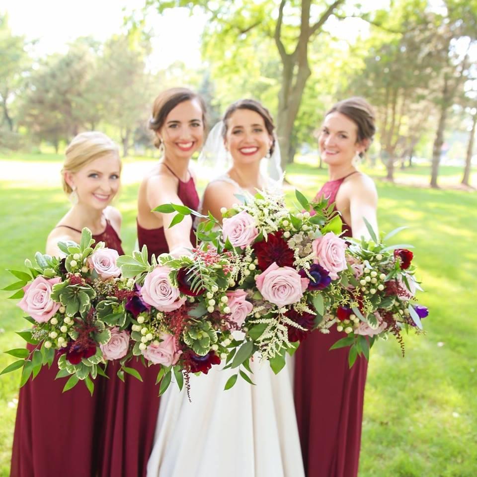 bridesmaids of nicolette and scott wedding